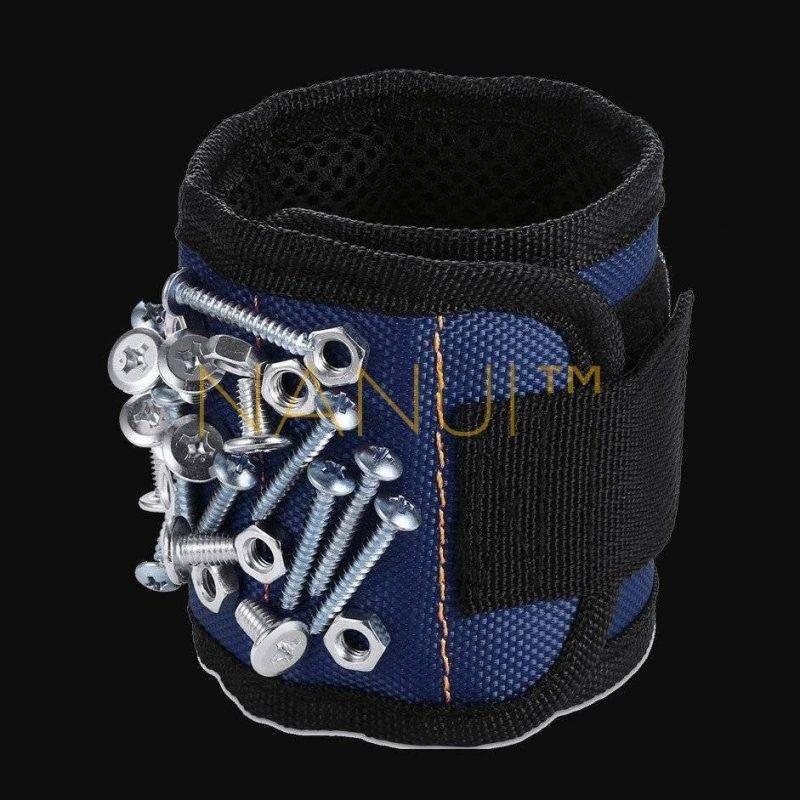 Magnetic Tool Wristband MINI Repair & Specialty Tools cb5feb1b7314637725a2e7: Black|Red