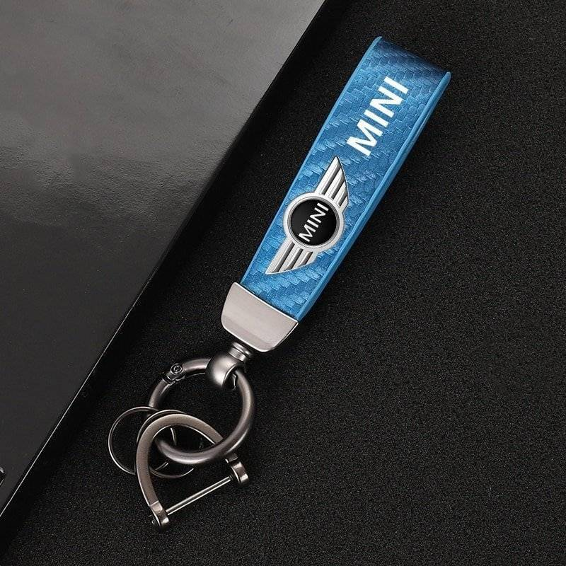 High-end carbon fibre keyring for Mini MINI Accessories Mini Others 6ee592b94717cd7ccdf72f: Black Blue green Pink Red