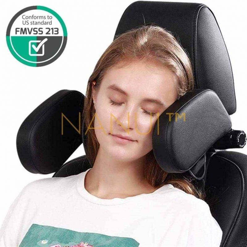 Premium Car Seat Headrest Pillows MINI Accessories a1fa27779242b4902f7ae3: Beige Leather Black Leather