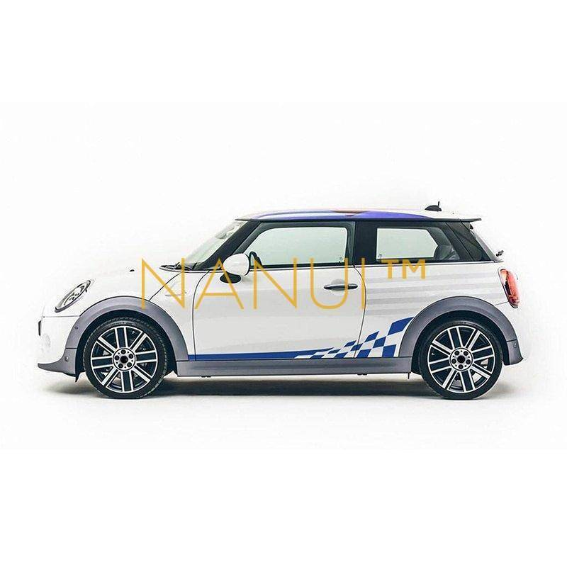 Checkered Door Side Stickers Vinyl & Stickers 6ee592b94717cd7ccdf72f: 5D carbon black Glossy black Glossy red Glossy white Matte black Reflective blue Reflective red Reflective yellow Silver gray