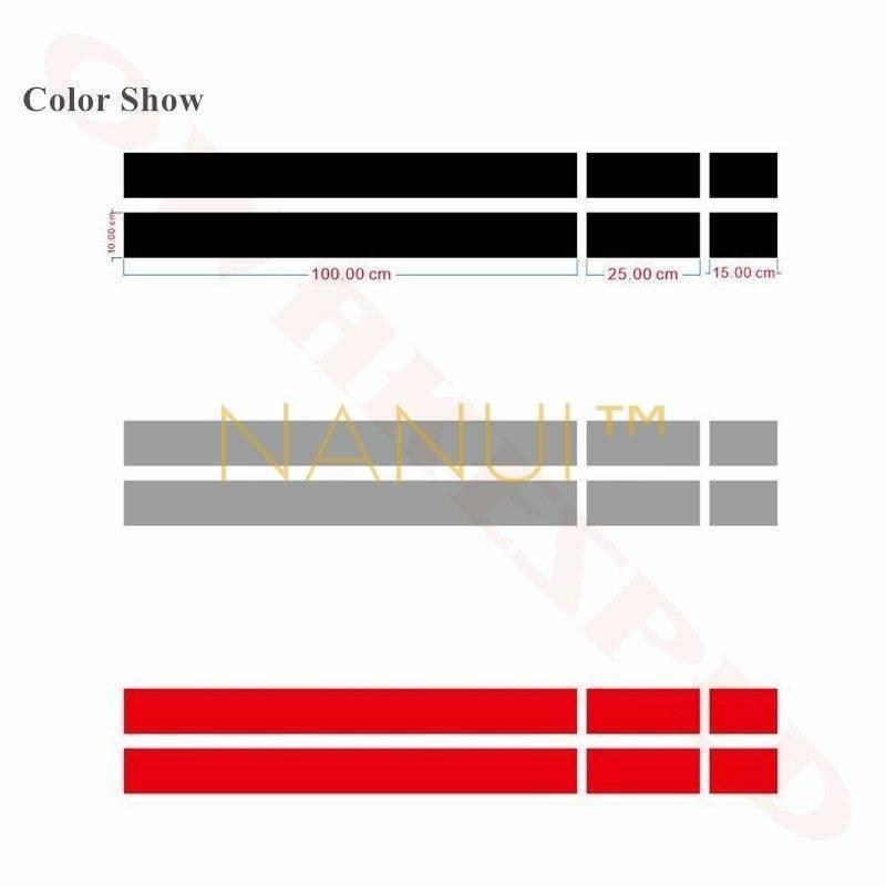 Vinyl Car Sticker Stripes for MINI Vinyl & Stickers 6ee592b94717cd7ccdf72f: Blue Deep gray Glossy black Gold green Matte black Orange Red Silver White