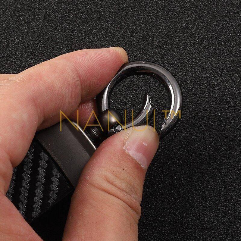 High-Grade Leather Car Key Chain MINI Accessories Mini Others 6ee592b94717cd7ccdf72f: Black