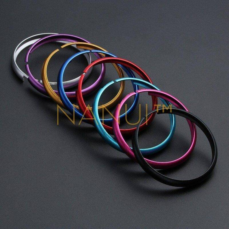 Aluminum Alloy Key Protective Ring MINI Accessories 6ee592b94717cd7ccdf72f: Black Blue Gold Light Blue Pink Purple Red Silver