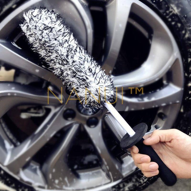 Microfibre rim cleaning brush, for spokes, rims MINI Cleaning cb5feb1b7314637725a2e7: 1 PC Blue Brush 1PC Grey Brush